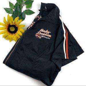 Harley Davidson 2W Black Top Embroidered Full Zip